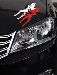 Недорогие -14 * 8 см водонепроницаемый ангел дьявол автомобили наклейки стайлинга автомобилей этикета