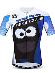 hesapli -JPOJPO Yenilik Komik Erkek Kısa Kollu Bisiklet Forması - Mavi Bisiklet Forma Üstler Nefes Alabilir Nem Emici Hızlı Kuruma Spor Dalları Polyester Elastane Terylene Dağ Bisikletçiliği Yol Bisikletçiliği