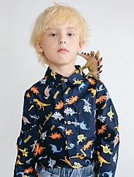 povoljno -Djeca Dječaci Osnovni Print Dugih rukava Majica Crn