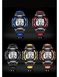 Недорогие -Муж. Модные часы Цифровой Стеганная ПУ кожа Черный / Аналоговый На каждый день - Желтый Красный Синий / Нержавеющая сталь