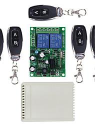 Недорогие -интеллектуальный коммутатор ak-rx220-2c + ak-j027 (5 шт.) для повседневной / гостиной / спальни с дистанционным управлением / многофункциональный / простой в установке дистанционный беспроводной 220 В