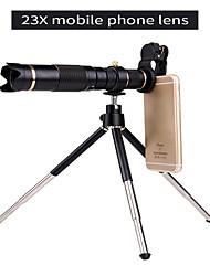 Недорогие -универсальный клип hd23x зум сотовый телефон телескоп объектив телеобъектив внешний смартфон объектив камеры для iphone samsung huawei