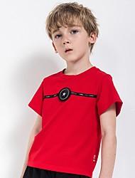 povoljno -Djeca Dječaci Osnovni Geometrijski oblici Kratkih rukava Majica s kratkim rukavima Red