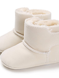 Недорогие -Мальчики / Девочки Обувь для малышей Хлопок Ботинки Младенцы (0-9m) / Малыш (9м-4ys) Красный / Синий / Розовый Зима / Резина