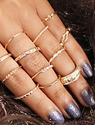 Недорогие -Жен. Ring Set 12шт Светло-коричневый Сплав Подарок Бижутерия