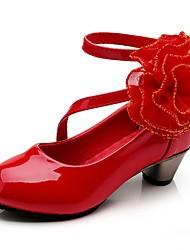 Недорогие -Девочки Детская праздничная обувь Полиуретан Обувь на каблуках Маленькие дети (4-7 лет) Цветы Пурпурный / Красный / Розовый Осень