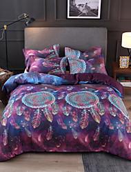 Недорогие -Ловец снов комплект постельного белья для утешителя красочный мультфильм животных пододеяльник с наволочками близнец полный королева королевского размера дети новый