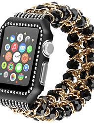 povoljno -Pogledajte Band za Apple Watch Series 4/3/2/1 Apple Sportski remen / Dizajn nakita Nehrđajući čelik / Silikon Traka za ruku