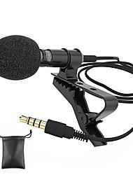 Недорогие -аудиомикрофоны 3,5 мм штекер клипса на петличный микрофон стерео мини проводной внешний микрофон для мобильного телефона