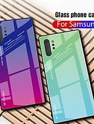 billige -Etui Til Samsung Galaxy Galaxy Note 10+ / Galaxy Note 10 Plus Ultratyndt Bagcover Farvegradient Tempereret glas