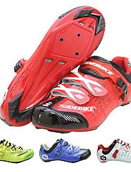 Недорогие -SIDEBIKE Обувь для шоссейного велосипеда Углеволокно Дышащий Противозаносный Ультралегкий (UL) Велоспорт Желтый Красный Синий Муж. Обувь для велоспорта / Дышащая сетка / Крюк и петля