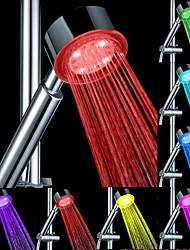 Недорогие -светодиодная насадка для душа смена цвета 2 водный режим 7 цвет свечения автоматически меняющаяся насадка для душа