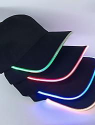 Недорогие -Универсальные Для вечеринки Классический Бейсболка Шляпа от солнца Хлопок,Однотонный Все сезоны Синий Красный Цвет радуги
