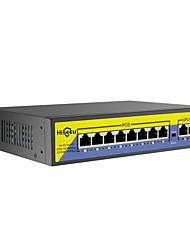 Недорогие -hiseeu 48v 8-портовый PoE-коммутатор с Ethernet 10/100 Мбит / с ieee 802.3 af / at для IP-камеры / системы видеонаблюдения cctv / беспроводной сети ap ft