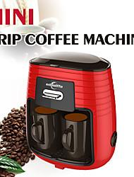 Недорогие -Edoolffe Mini кофеварка 2 человека / чашка капельного кофе-машина MD-235 красный