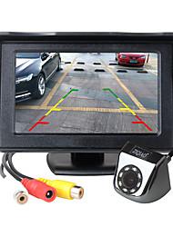 Недорогие -Ziqiao 4,3-дюймовый TFT ЖК-экран автомобиля монитор вспомогательная парковка светодиодный свет ночного видения камеры заднего вида комплект