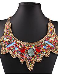 billige -Dame Halskjede geometriske Blomst Bohemsk Zirkonium Chrome Gull 45+5 cm Halskjeder Smykker 1pc Til Daglig