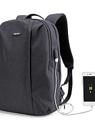 """Недорогие -14-дюймовый ноутбук / 15 """"Ноутбук Рюкзаки Полиэстер Сплошной цвет Унисекс Водостойкий Противоударное покрытие с USB-портом для зарядки / наушниками"""