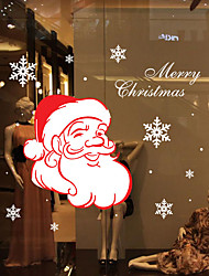Недорогие -Декоративные наклейки на стены - Простые наклейки Рождество / Праздник Спальня / На открытом воздухе