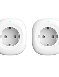 Недорогие -Смарт-штекер из 2-х комплектов для управления гостиной / кабинетом / спальней / функцией хронометража / Smart Wi-Fi 110-150 В Smart Sokcet два комплекта
