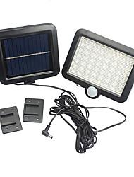Недорогие -1шт 5 Вт солнечный настенный светильник контроль / обнаружение движения белые батареи с питанием от внешнего освещения / бассейн / двор 56 светодиодных шариков