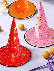 Недорогие -ведьма шляпы маскарад лента волшебная шляпа колпаки партии косплей хэллоуин костюм аксессуары ну вечеринку необычные платья украшения