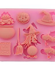 Недорогие -1 шт. Пасхальные хэллоуин предметы ведьма тыквы двойной сахар торт плесень маска diy выпечки инструменты