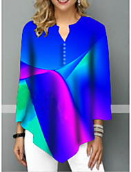 billige -T-skjorte Dame - Stripet Svart
