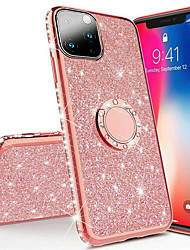Недорогие -горный хрусталь блеск палец магнитное кольцо чехол для телефона для iphone 11 pro max / iphone 11 pro / iphone 11 / xs max xr xs x 8 плюс 8 7 плюс 7 6 плюс 6 мягкое силиконовое покрытие тпу алмаз