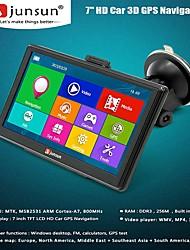 Недорогие -Junsun D100S HD автомобильный GPS-навигатор 7,0-дюймовый Win CE 6,0 256 МБ ОЗУ + 8 ГБ rom мультимедийный плеер навигация 3D емкостный сенсорный экран FM-Bluetooth Avin Navitel