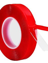 Недорогие -1 см * 3 м красный прозрачный силиконовый двусторонний скотч для автомобиля высокой прочности без следов клей наклейка models10mm * 3 метра