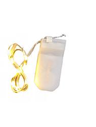 Недорогие -1m Гибкие светодиодные ленты 10 светодиоды SMD 0603 Тёплый белый Водонепроницаемый / Новый дизайн / Для вечеринок Аккумуляторы 1шт