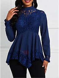 billige -Bluse Dame - Ensfarget Navyblå