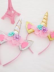 Недорогие -Повязка на голову единорог хэллоуин праздник голова пряжки ювелирные изделия подарок на день рождения детские аксессуары для волос
