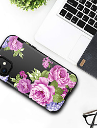 billige -Etui Til Apple iPhone 11 / iPhone 11 Pro / iPhone 11 Pro Max Støtsikker Bakdeksel Blomsternål i krystall / Marmor TPU
