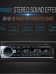 Недорогие -SWM JSD-520 1 DIN 12 В Автомобильное стерео радио In-DashBluetooth V2.0 Радио FM-приемник FM-вход AUX SD USB MP3-плеер радио ЖК-дисплей цифровой экран время отображения черный