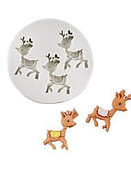 Недорогие -Рождественский олень олень шоколад плесень помадка торт силиконовые формы домашняя выпечка прибор