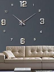 お買い得  -時計時計壁時計時計3d diyアクリルミラーステッカー家の装飾リビングルーム石英針