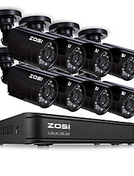 Недорогие -Система видеонаблюдения ZOSI HD 8-канальный 8-канальный 1080n видеорегистратор 8шт 1-мегапиксельная 720p система видеонаблюдения для наружного видеонаблюдения комплекта видеонаблюдения без HDD