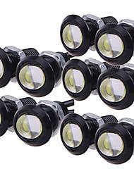 billige -10 stk kjørelys kjøretøy backup backing parkeringssignal lampe vanntett 23mm led eagle eye diy cob 12v