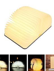 Недорогие -1шт Книга Настольный ночной светильник Тёплый белый Другие аккумуляторные батареи Перезаряжаемый / Креатив / Простота транспортировки 5 V