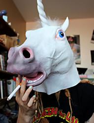 Недорогие -маска анфас хэллоуин лошадь маска единорога маска новизна жуткий коричневый латекс теа