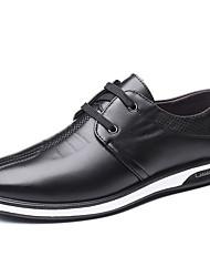 baratos -Homens Sapatos Confortáveis Couro Ecológico Outono Casual Oxfords Não escorregar Preto