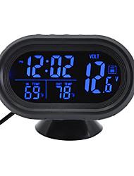 Недорогие -цифровые автомобильные часы термометр батарея вольтметр напряжение светящиеся электронные часы