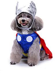 Недорогие -Собаки Инвентарь Одежда для собак Однотонный Красный Полиэстер Костюм Назначение Зима Праздник Хэллоуин