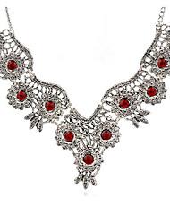 billige -Dame Halskjede geometriske Blomst Vintage Zirkonium Chrome Sølv 45+5 cm Halskjeder Smykker 1pc Til Daglig
