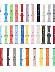 Недорогие -Мягкий силиконовый спортивный ремешок для яблочных часов серии 5 4 3 2 1 для iwatch band 42мм 38мм 40мм 44мм браслет