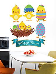 Недорогие -Декоративные наклейки на стены - Простые наклейки / Праздник стены стикеры Животные / Праздник Детская