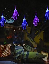 Недорогие -хэллоуин гирлянды 1 м 10 привели жуткий скелет рука хэллоуин огни украшения на батарейках гирлянды для патио крытый открытый синий