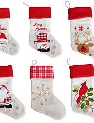 お買い得  -1ピース漫画パターン装飾クリスマス靴下家の装飾/休日の装飾新年のランダム送信